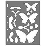 Fiskars 4810 Gabarit de Découpe Papillons Blanc