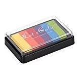 Foxpic Tampon Encreur 6 Couleurs, Scrapbooking Multicolore, Encre DIY Artisanat, Couleur Vive