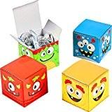 German-Trendseller ® - 12 x boîtes á cadeaux de monstres?pour friandises?3 rouge?3 bleu? 3 jaune? 3 vert? l'anniversaire d'enfant