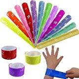 German Trendseller® - 12 x bracelets à claquer colorés?petit cadeau ? l'anniversaire d'enfant? mélange de couleurs