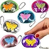 German-Trendseller ® 6 x porte-monnaies papillon ?pour enfants? petit cadeau? l'anniversaire d'enfant? mini bourse? diffèrentes couleurs