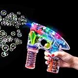 German Trendseller® - LED pistolet à bulles de savon?bubble gun pour des enfants? Light up ?lumineuse? petit cadeau?l'anniversaire d'enfant