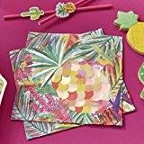 Ginger Ray irisé avec feuille Ananas Serviettes de fête en papier X 20Idéal pour les fêtes, les barbecues d'été et ...