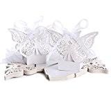 Gleader 20pcs Boite a dragees bonbons Grand Papillon pour Mariage Bapteme