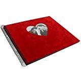 Goldbuch album photos à spirale 'Rosso', couverture personnalisable en velours rouge, 30x34 cm, 40 pages, 25766