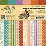 """graphic456x 15cm """"Collection de temps à Flourish Patterns solides et pad"""