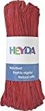 HEYDA Raphia 204887791raphia naturel 0M x 0mm, (Rouge)