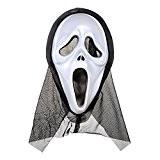 Hi-Cosplay Halloween Deguisement ACCESSORIES Scream Masque Plastique