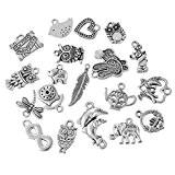 HOUSWEETY 20 Mixte Pendentifs / Breloques Metal Pour Bracelet Collier 10.5x5.9cm