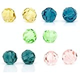 HOUSWEETY 200 Mixte Perles cristal Verre quartz Facette 4mm