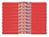 Idena 60017 papier crépon, 50 x 250 cm-lot de 10 rouleaux