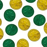 Irlandais Saint-Patrick Vert et Doré-monnaie en plastique table confetti x 100 Pièces