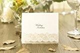Ivoire en relief Brillant argenté chaud Laser Bellfleur Invitation de mariage avec enveloppes et Inserts pour vous à imprimer Inc ...