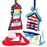 Kits de Couture Décorations Bord de Mer en Feutre à Accrocher que les Enfants pourront Confectionner et Décorer pendant leurs ...
