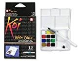 L'eau Koi couleurs Pocket champ Sketch case-12 couleurs