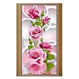 La Cabina 5D Peinture DIY Diamant Broderie Poinx de Croix de Bricolage Pour Décoration de Salon- Roses