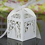 lavinaya 50/Lot Boîte à Bonbons en papier coloré marié et mariée mariage cadeaux Boîtes à bonbons Parti Wrapper