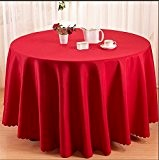 LINGHOU Hôtels à restaurant de linge de table polyester solide autour de nappe , red , 2.0m table cloth