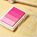 Lot de 1Tampon en bois en papier Rose Colorful Pad Tampon d'encre Pad d'encre pour Tampon Deco Stamp Craft Joint ...