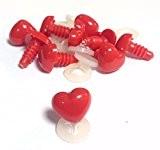 Lot de 10-Cœur Nez 12mm x 11mm avec attaches en plastique-Ours en peluche et peluche qui personnage Nez
