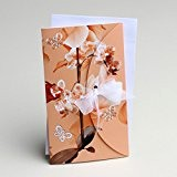 Lot de 10 faires-parts thème Orchidées Orangé Mariage mariage baptême communion avec enveloppes