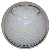 Lot de 10 sachets de perles d'eau Gel sol Blanc Bio Gel Aqua Crystal en Gel silicone pour la décoration ...