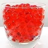 Lot de 10 sachets de perles d'eau Gel sol rouge Bio Gel Aqua Crystal en Gel silicone pour la décoration ...