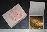 lot de 100 feuilles d'or 45 mm X 45 mm 24 carats dans la base 100 % veritable