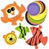 Lot de 36 Assiettes Colorées en Papier - Idéal pour les Créations de Têtes d'Animaux