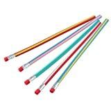 Lot de 5 Crayon à Papier Flexible Pliable Souple Pour Rentrée Ecole