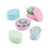 Lot de 6 Boites Ovales Couleurs Pastel à décorer - Loisirs Créatifs pour la Pâques