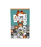 Luckies of London LUKAGW Papier Cadeau Animaux Joli pour Emballer Papier Multicolore 5,3 x 8,2 x 0,6 cm