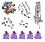 Luxbon Breloques de Bracelet Cadeau Kits -5 Bracelets complètes.Comprendre 5 styles de bracelets, 25 perles mixtes en verre de murano, ...