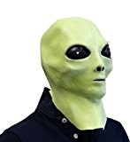 Masque latex alien (luit dans le noir) déguisement OVNI extra-terrestres cinéma
