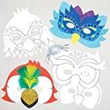 Masques oiseaux à colorier que les enfants pourront fabriquer et décorer - Kit de loisirs créatifs pour enfants - Accessoire ...
