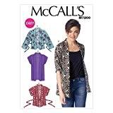 McCalls Mesdames Patron de Couture Facile 7200tr/Kimono Vestes + sans Minerva Crafts Craft Guide