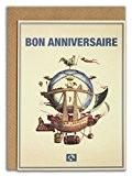 Message Earth 3264526 Carte Double Éco-Design avec Son Enveloppe Motif Bon Anniversaire Beige Papier Recyclé 16,3 x 12,15 cm