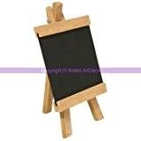 Mini Chevalet de table en bois avec tableau noir ardoise, trépied, haut. 18 cm