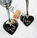 Mini Tableau Noir En Bois Coeur Pendentif Idéal pour les tables de mariage vintage Place noms et décoration, Bois dense, ...