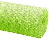 Mondial-fete - Crépon Vert anis en rouleau 0,5 x 2,5 m