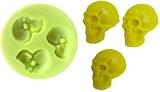 Moule en silicone pour une utilisation Artisan Représentant Calco Of The Skulls 3 humains 2D. Convient aux reproductions d'articles - ...