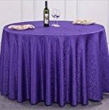 Nappe Hôtel Table ronde Tissu en coton et lin Bureau Tissu antipoussière doux Exposition Classique , 6 , round 3 ...
