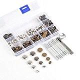 NEW 60complétée de 4tailles 10/12,5/15/17mm Argent 3couleurs Gris acier en laiton fermoir pression Poppers Boîte à couture boutons Clous en ...