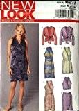 NEW LOOK 6211Patron de Couture Taille 818robe sans manches Jupe droite Top à manches longues pour femme