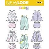 NEW LOOK bébé grenouillère et patron de couture robe d'été avec culotte, papier