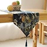 OLQMY-Décoration de table,Ameublement, élégance et vent coton et linge de table drapeau japonais, drapeau de table basse de style rétro, ...
