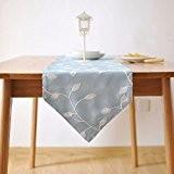 OLQMY-Décoration de table,Broderie jardin haute qualité coréenne table drapeau double couche coton lin garde meuble drapeau drapeau décoration, drapeau de ...