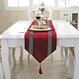 OLQMY-Décoration de table,Drapeau de table Europe diamant luxe luxueux café nappe, nappes, drapeaux de table, serviette de longueur et lit,B,33 ...