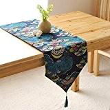 OLQMY-Décoration de table,Drapeau japonais table lin, nappe table basse, drapeau moderne d'une table simple, tissu drapeau meuble TV, coton et ...