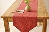 OLQMY-Décoration de table,Maison tissu points coton et drapeau de table lin, restaurant simple Guéridon moderne drapeau drapeau drapeau, rouge cercle ...